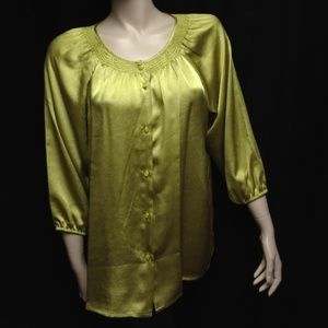NY Collection Size Large Career Blouse Top